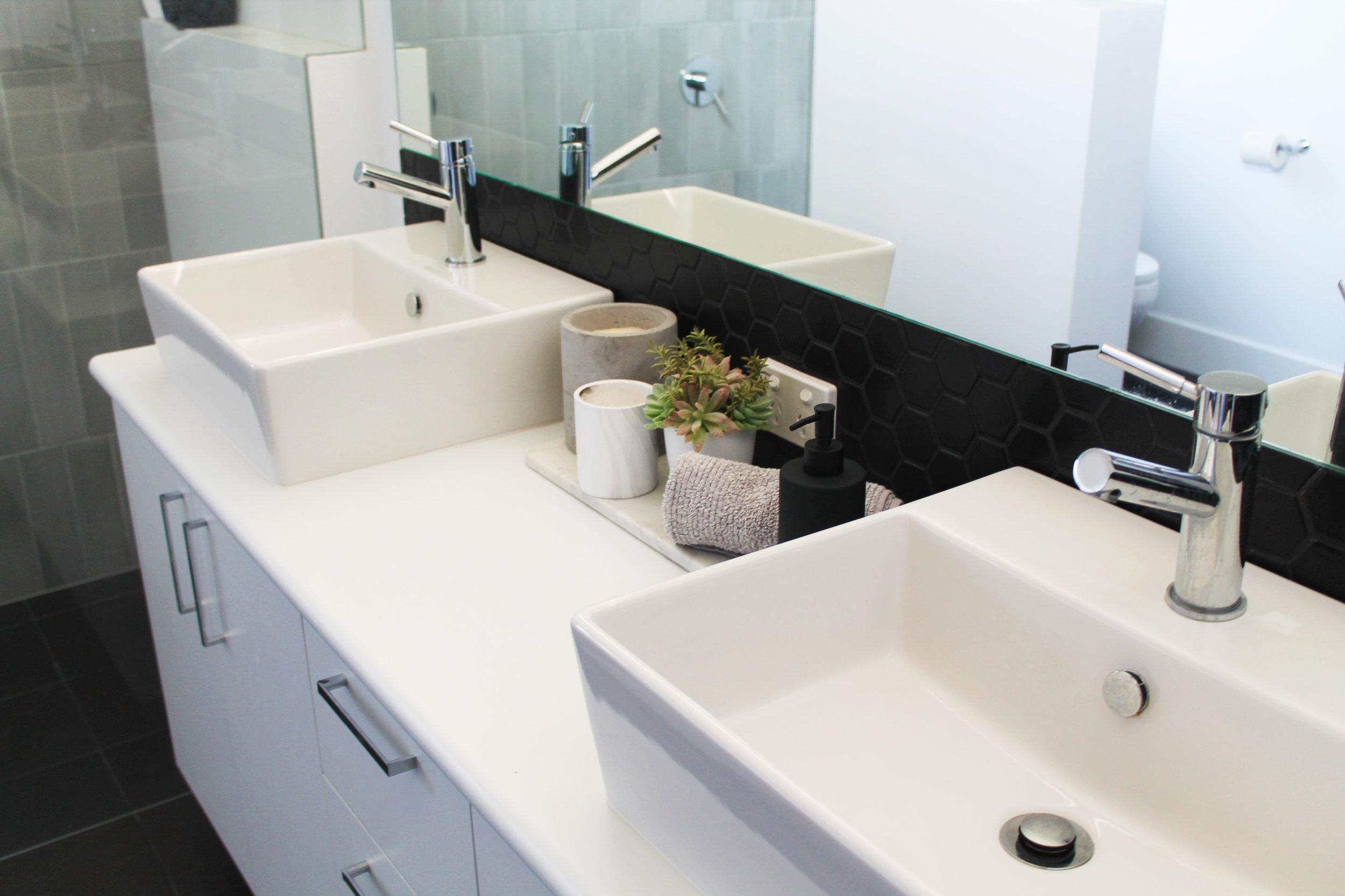 Double / Two Vanities Bathroom - Walk in Shower