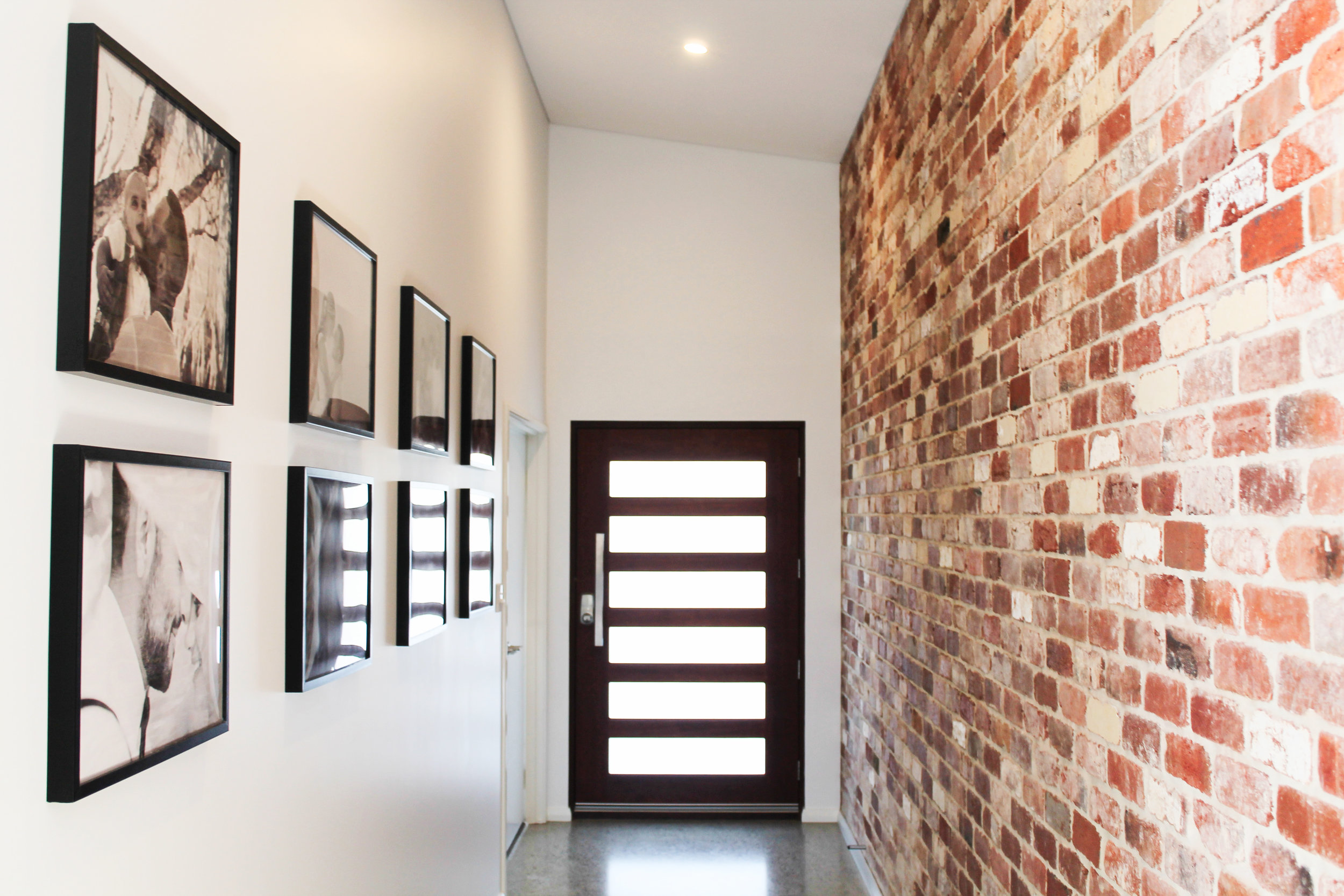 Recycled Red Brick Hallway