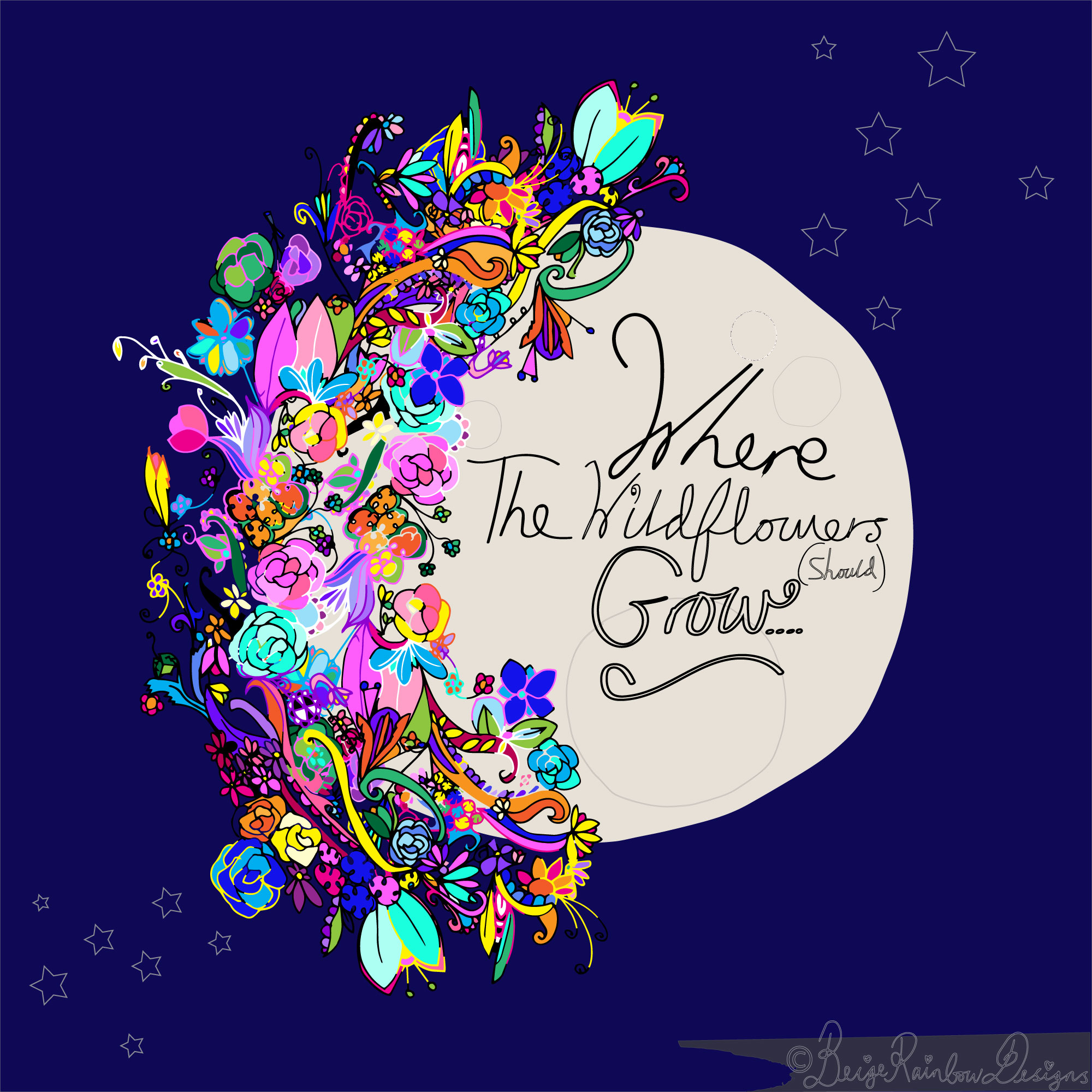 Where The Wildflowers (should) Grow - The Moon