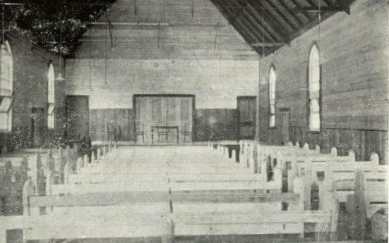 The interior before Sunday morning