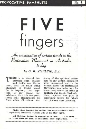 G. R. Stirling, Five Fingers, PP 1