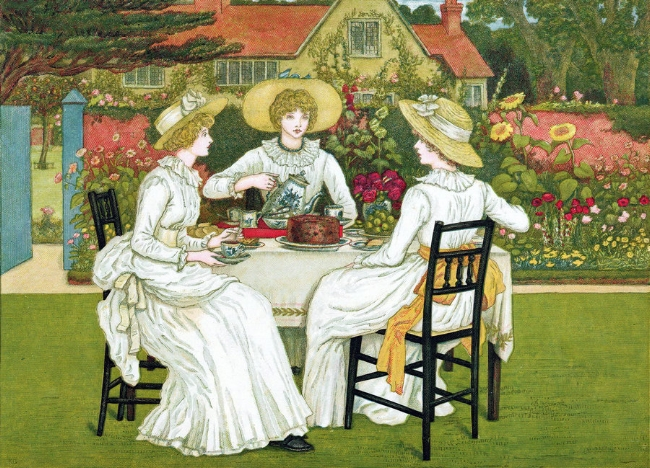 Afternoon Tea  by Kate Greenaway, 1886