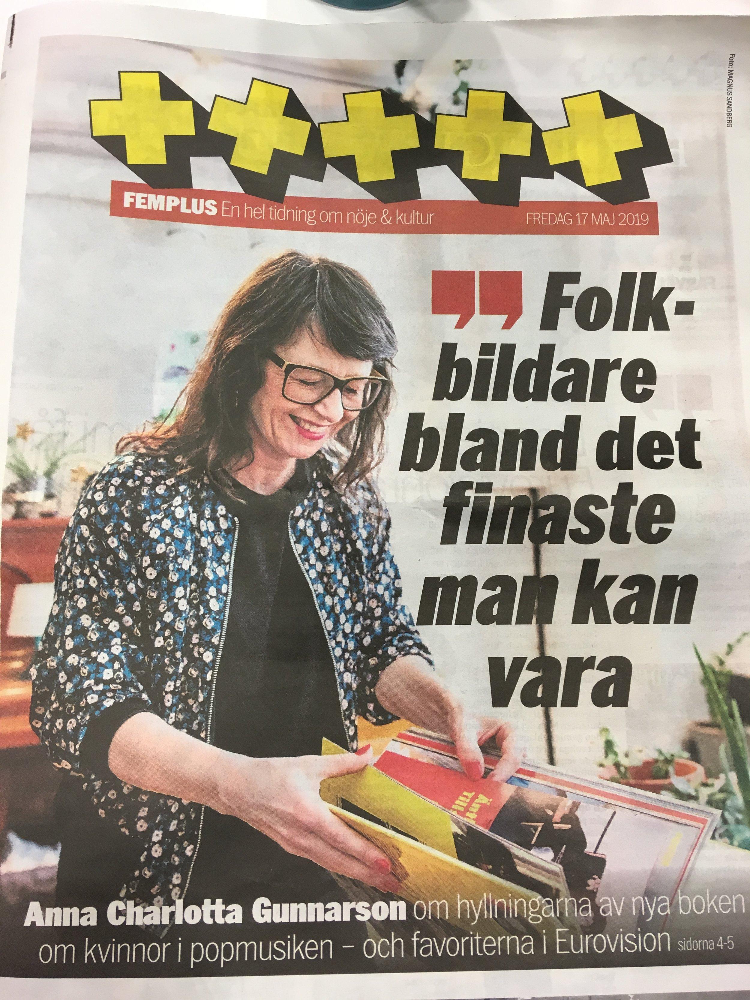 Omslagsflicka. Aftonbladets Femplusbilaga. Läs artikeln HÄR.