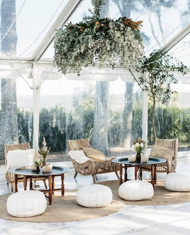 COMING SOON (BOOKINGS FROM OCTOBER 2019) IMAGE VIA BYRON BAY WEDDINGS - Oasis armchairs pictured.
