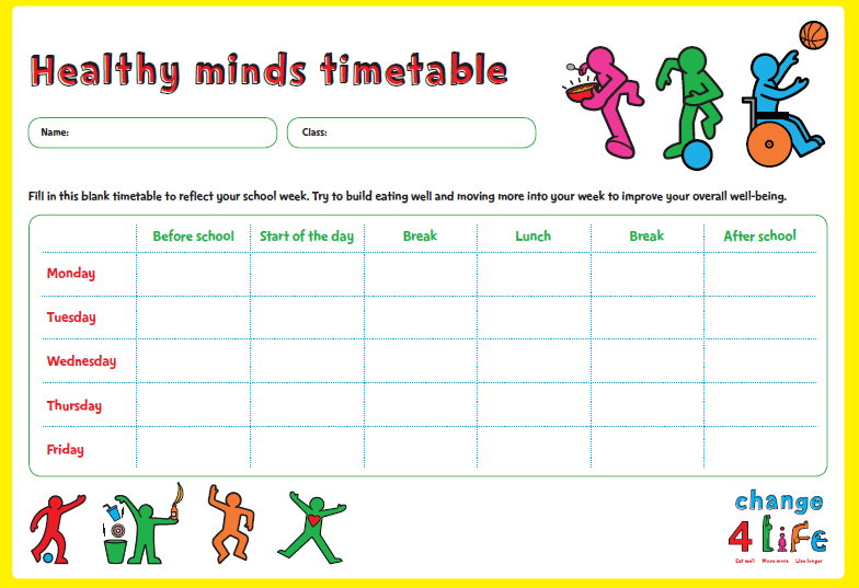 C4L -Our Healthy Year - Yr 6 - Healthy Mind Timetable