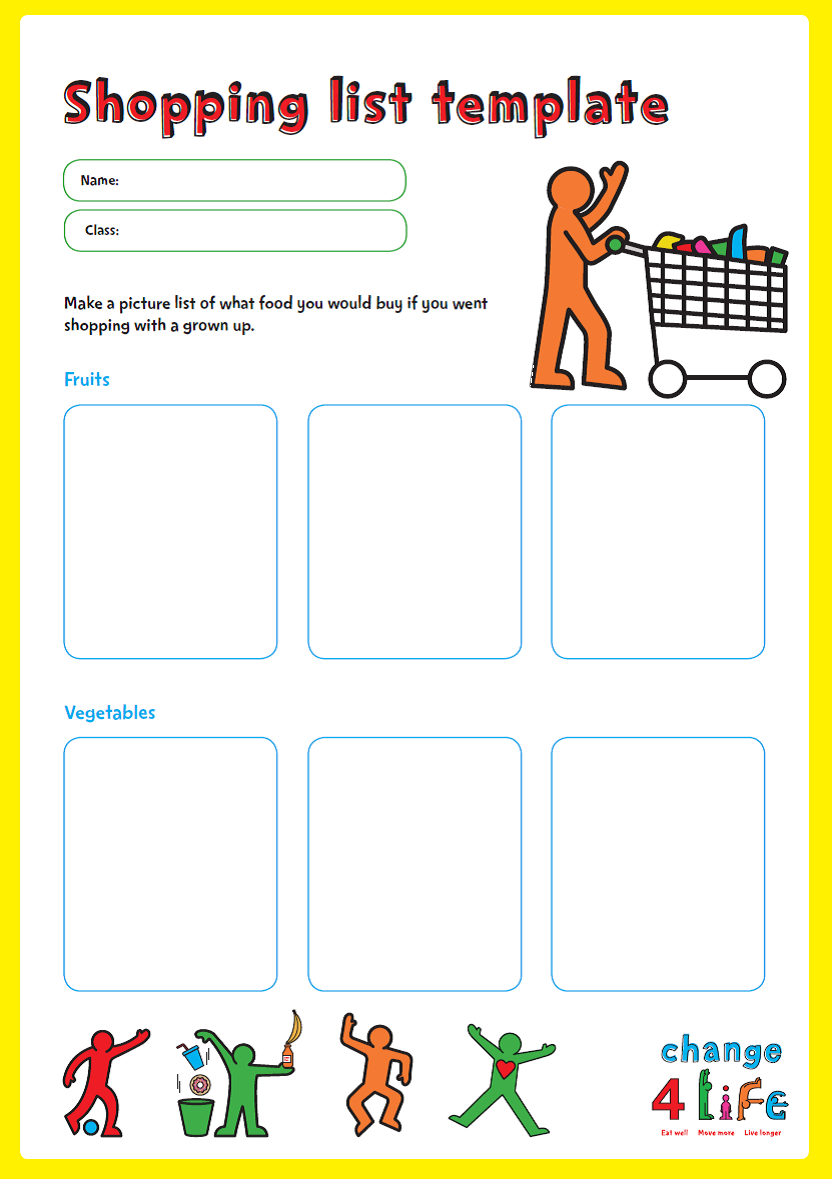 C4L - Our Healthy Year - Reception - Shopping List