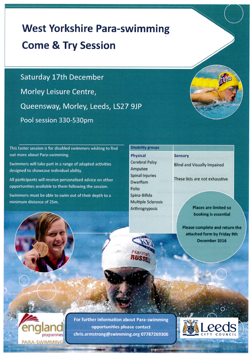 West Yorkshire Para- Swimming