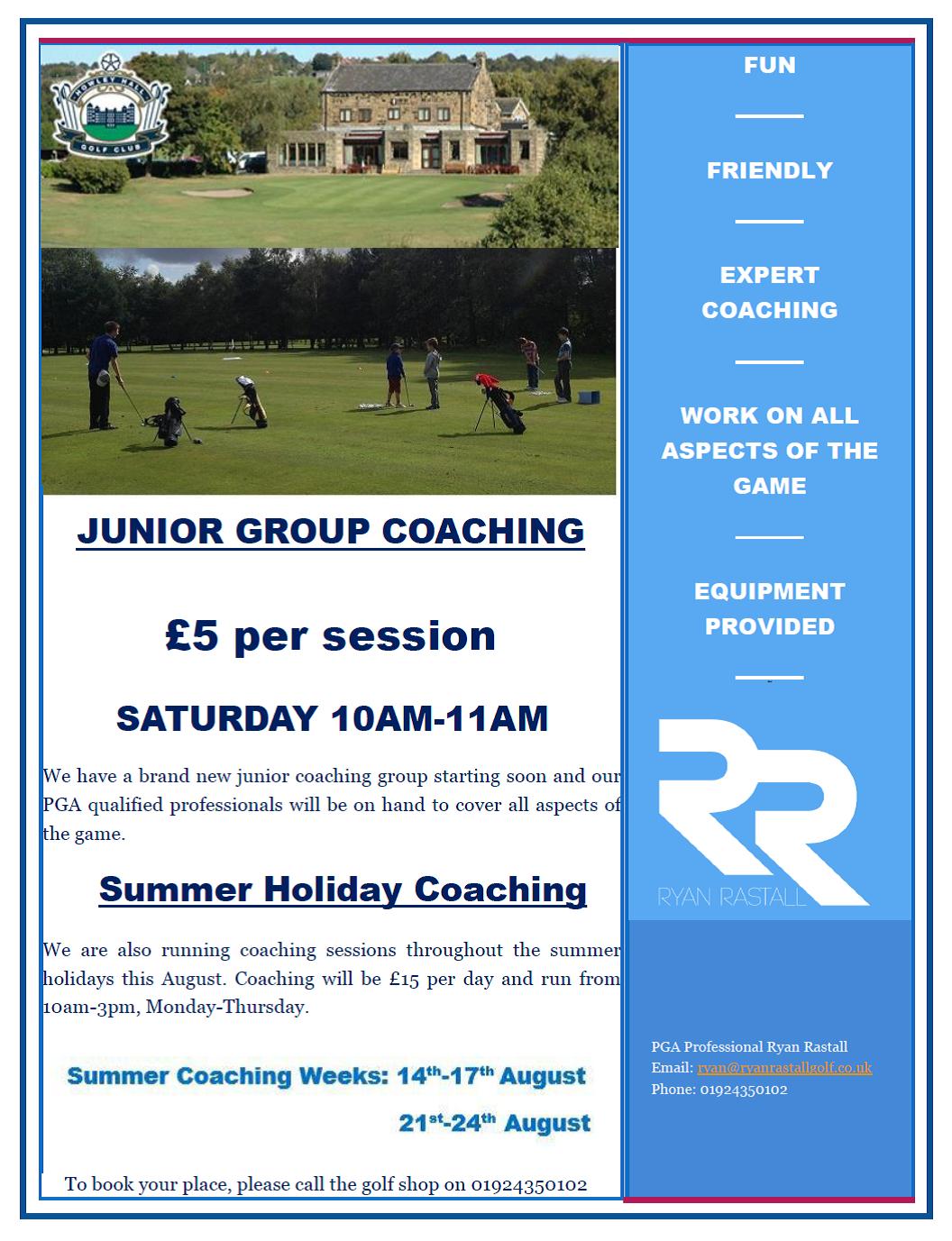 Howley Hall Golf Club - Summer Holiday coaching