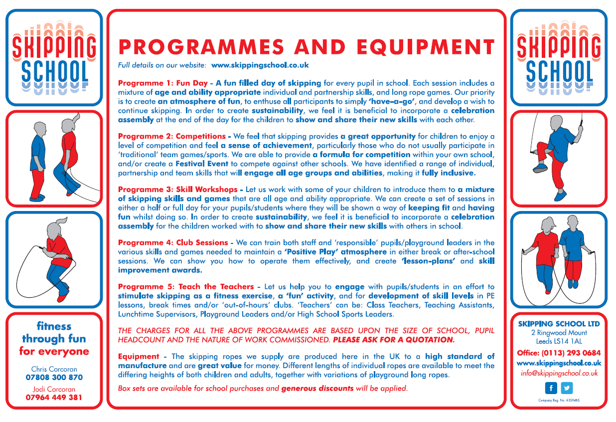 Skipping School - Programme & Equipment