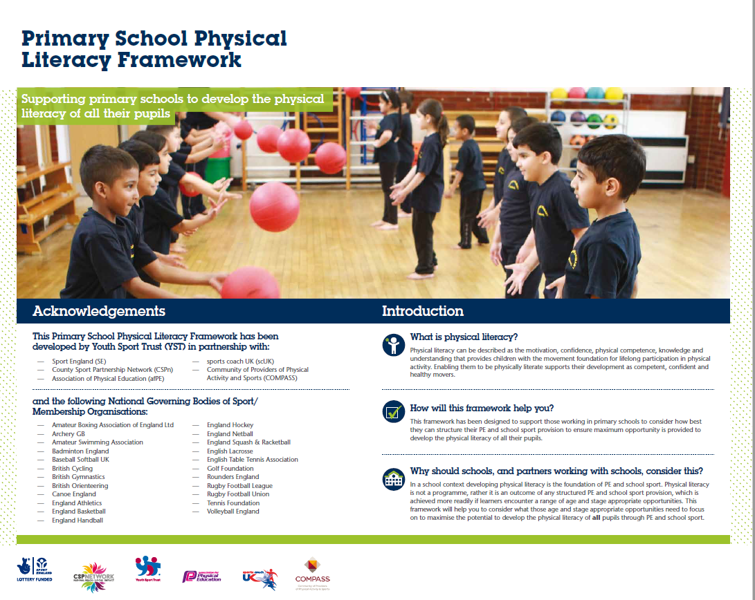 Primary School Physical Literacy Framework