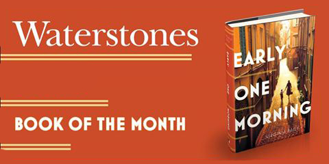 An advert for Waterstones Book of the Month featuring the cover of the novel Early One Morning by Virginia Baily