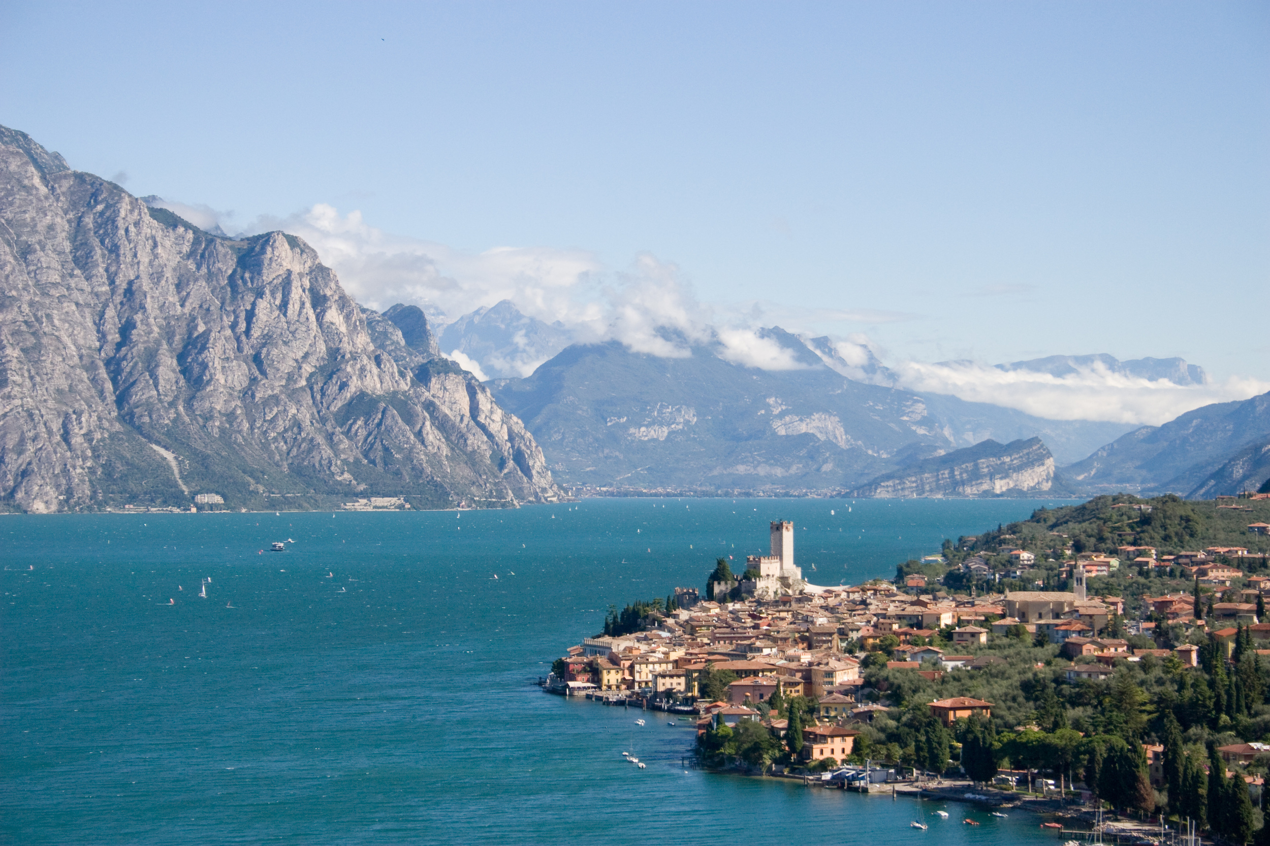 A picture of Lake Garda in the north of Italy, the setting of a short story by the author Virginia Baily