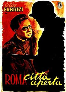 Roma citta aperta, original poster for Rome Open City film