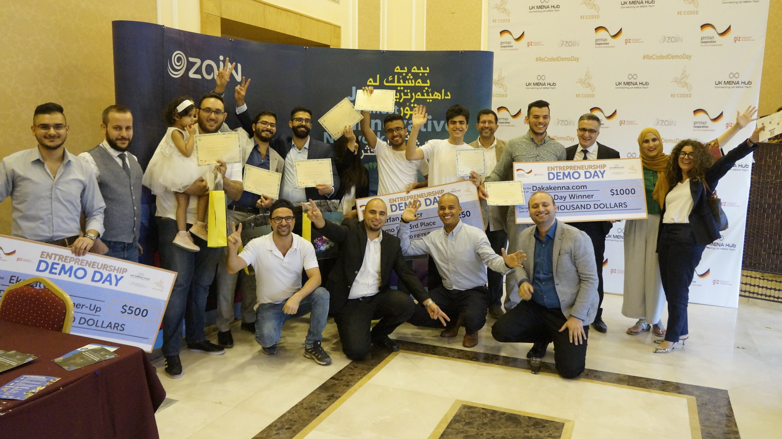 Last year's Technology Entrepreneurship Academy's graduation in Erbil, Iraq