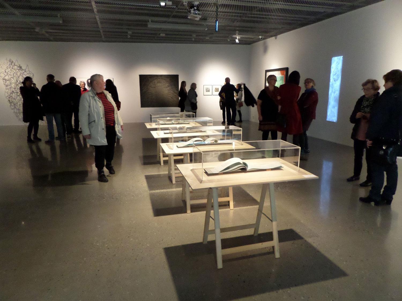 """24.01.2010"" (2013) bookinstallation, Artists' Book, bookbinding, letterpress and mokuhanga (Japanese woodblock printing)"