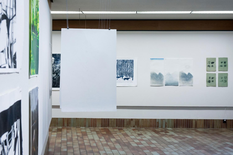 "HIT-utstillingen  10.05 – 04.08 2019  Haugesund Billedgalleri  (Foto: Haugalandmuseet/Grethe Nygaard)                 ""Nattlys"", tresnitt, Japanese woodblock"