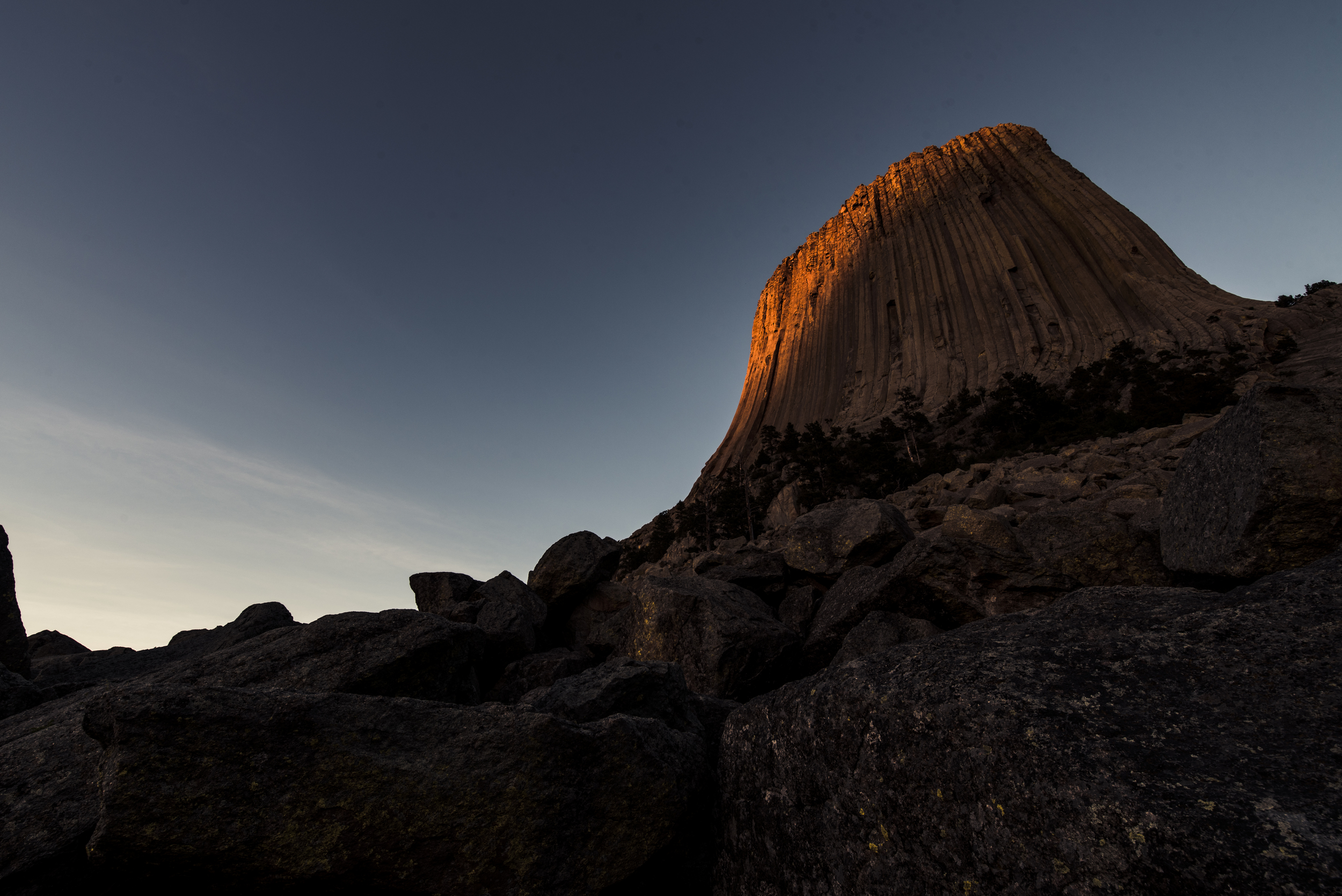 Sunset at Devils Tower