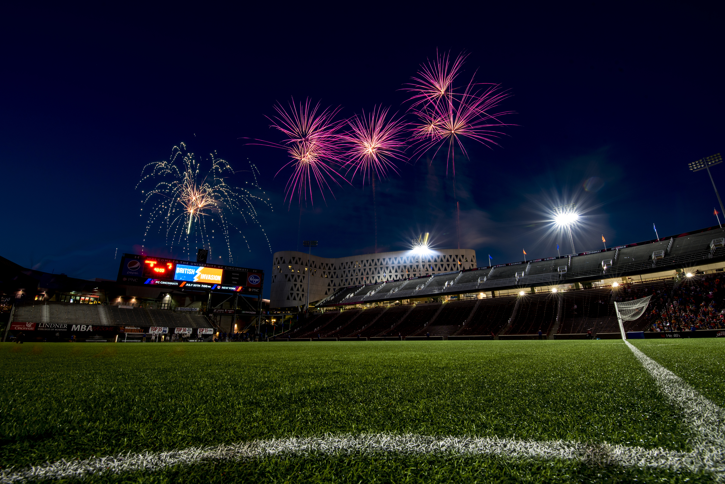 Fireworks after FC Cincinnati vs Crystal Palace FC