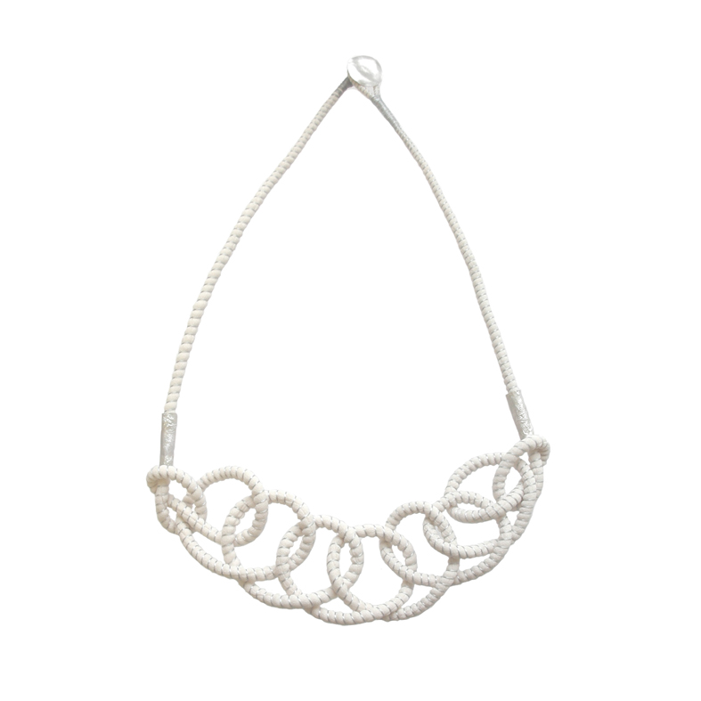 Tanvi Kant White Crochet with Silver Necklace.jpg