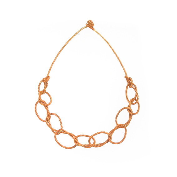 Ombre-Orange-Single Knotted Necklace-Tanvi-Kant.jpg