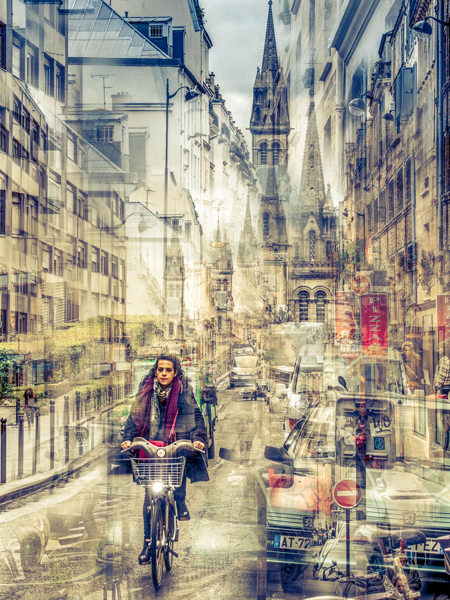 A vélo rue de l'église