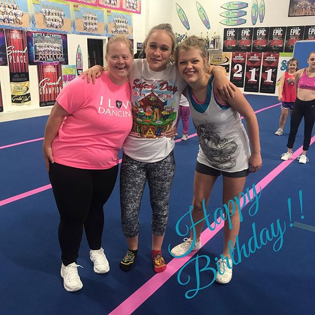 October birthdays!! Our October birthday girls are Paige, Webs, and Kenedy!! Paige and Kennedy are on our cheer abilities team, STARLITE! Webs is on coed senior 3, BRILLIANCE and junior coaches STARLITE! #happybirthday #lemonlimetime #smallgymstrong #shorepridestrong #STARLITE #BRILLIANCE