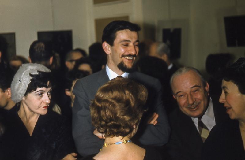 1959, Charles Gagnon au vernissage de la Galerie Artek