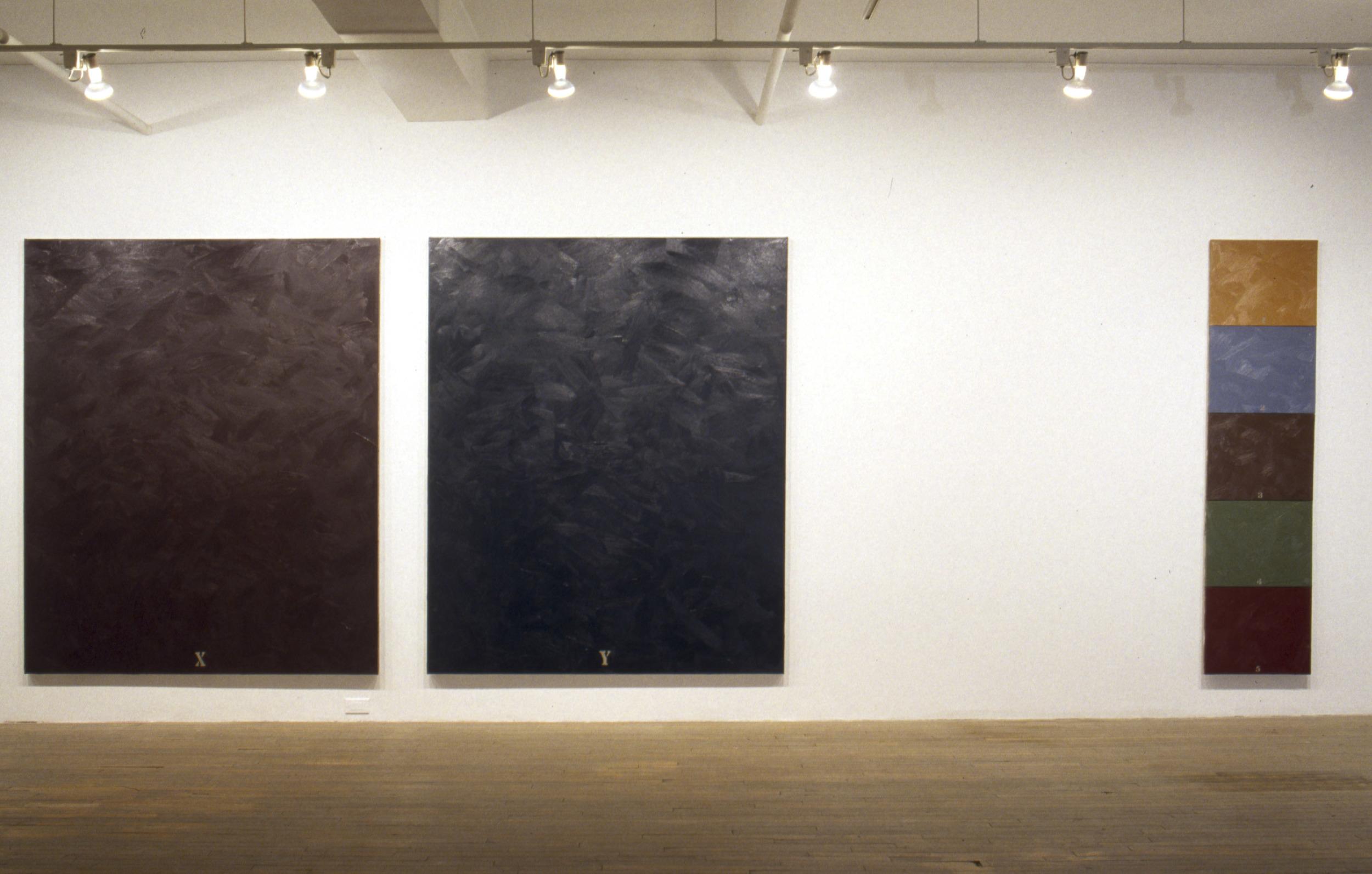 """1993, """"La Création de l'univers (version abrégée)-The Creation of the Universe (Abriged Version), huile sur toile, Collection permanente du Musée d'art contemporain de Montreal"""
