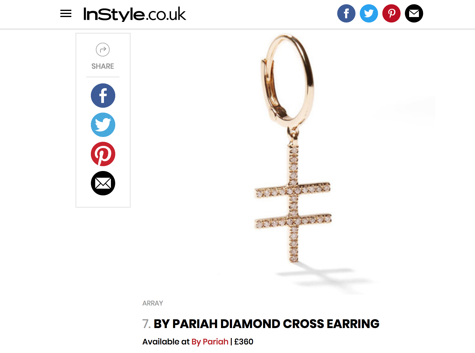 INSTYLE.CO.UK / Best Women's Jewellery Gifts - Christmas 2017
