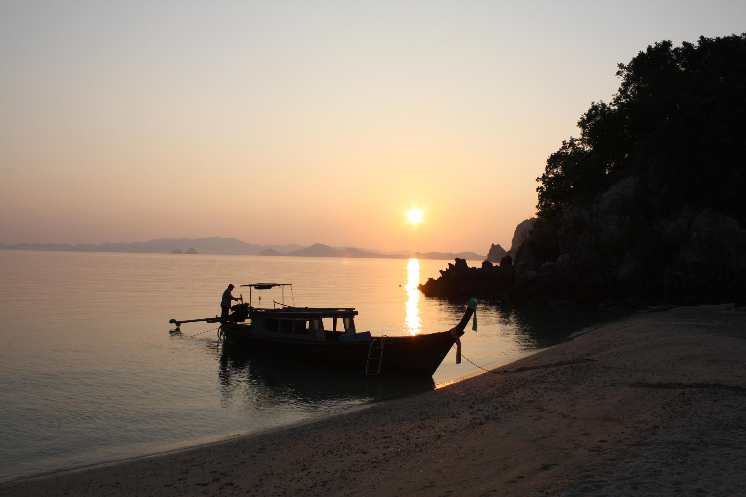 Sunset on islands near Koh Yao Noi