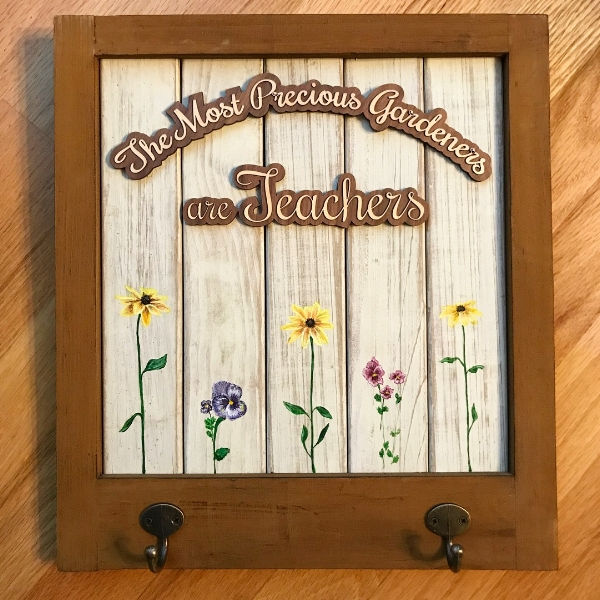A gift for teachers — acrylic on wood with walnut and maple