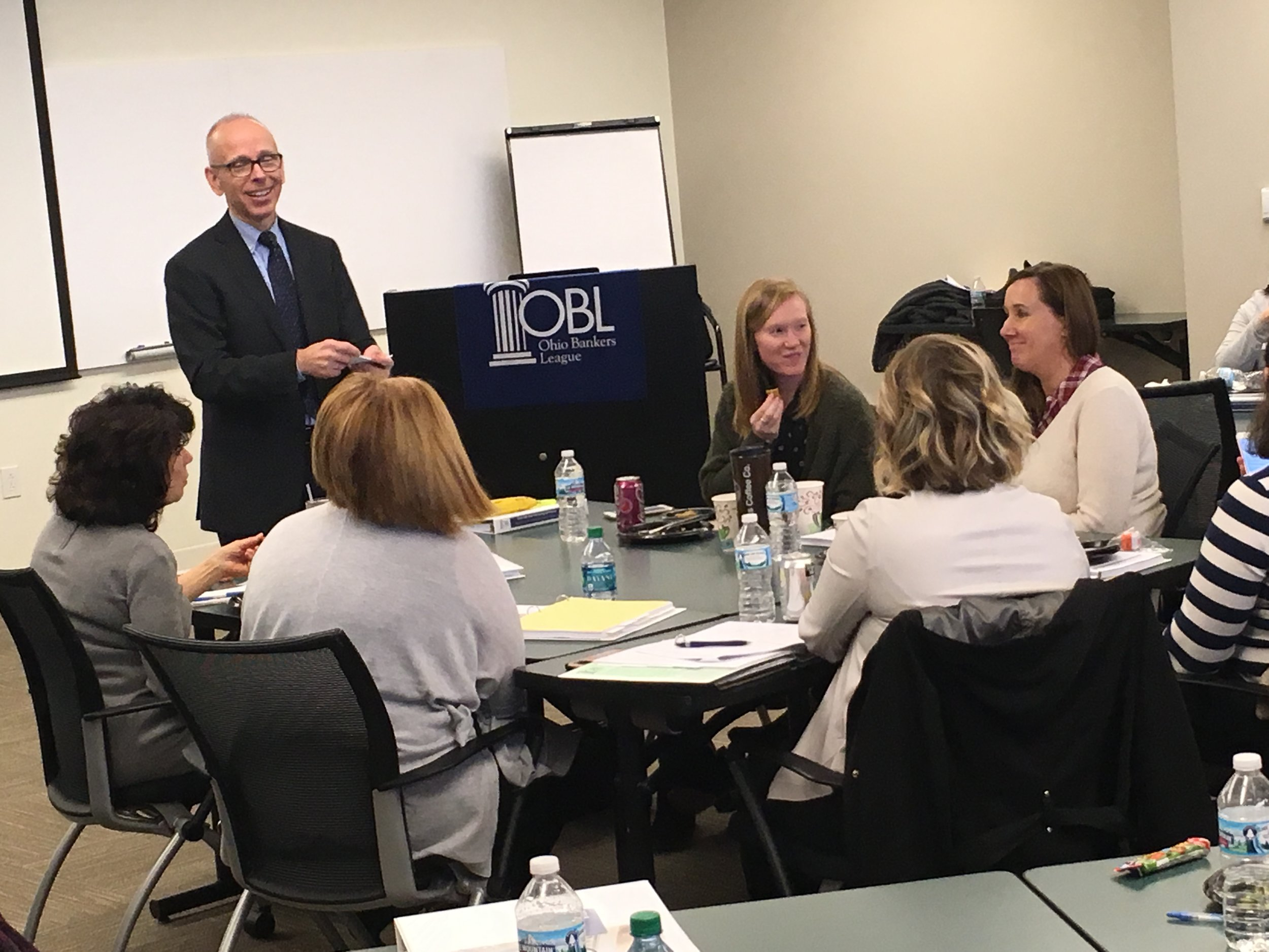 Jim Perry facilitating a roundtable discussion about bank marketing at Ohio Bankers League 2018 Marketing Conference