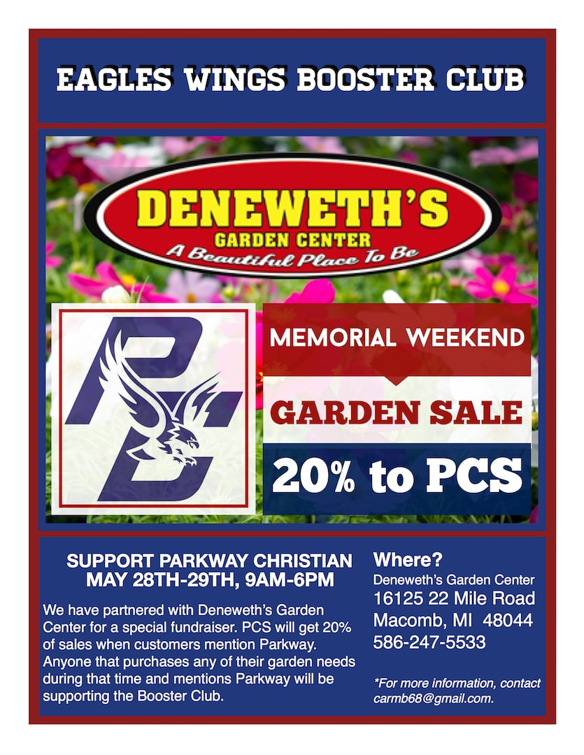 Booster Club Garden Sale