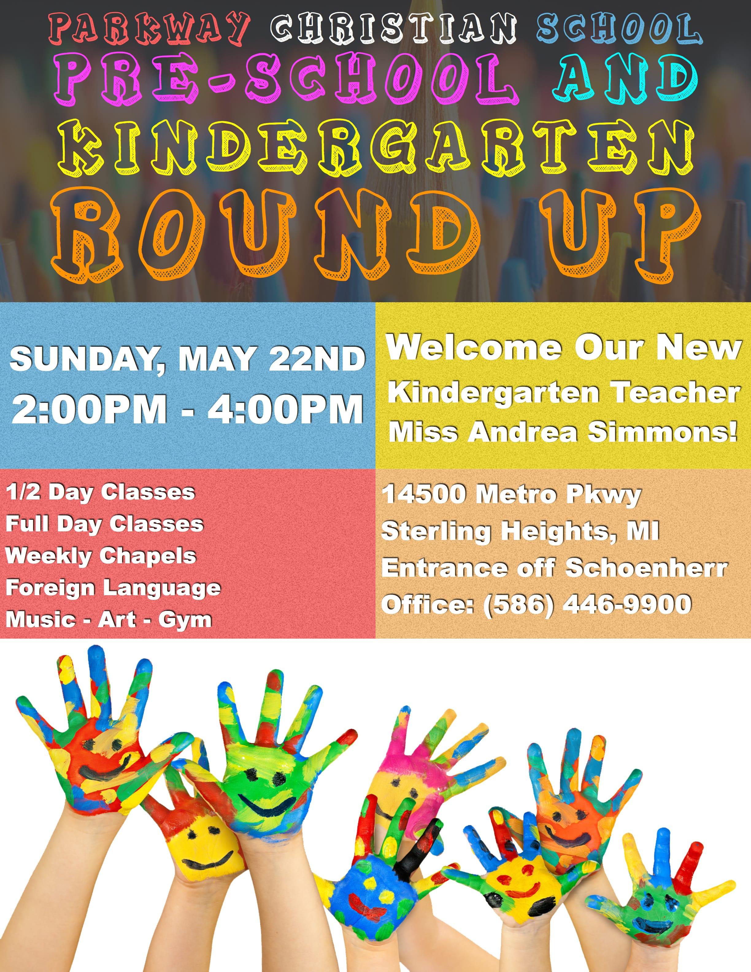 Pre-School & Kindergarten Round Up