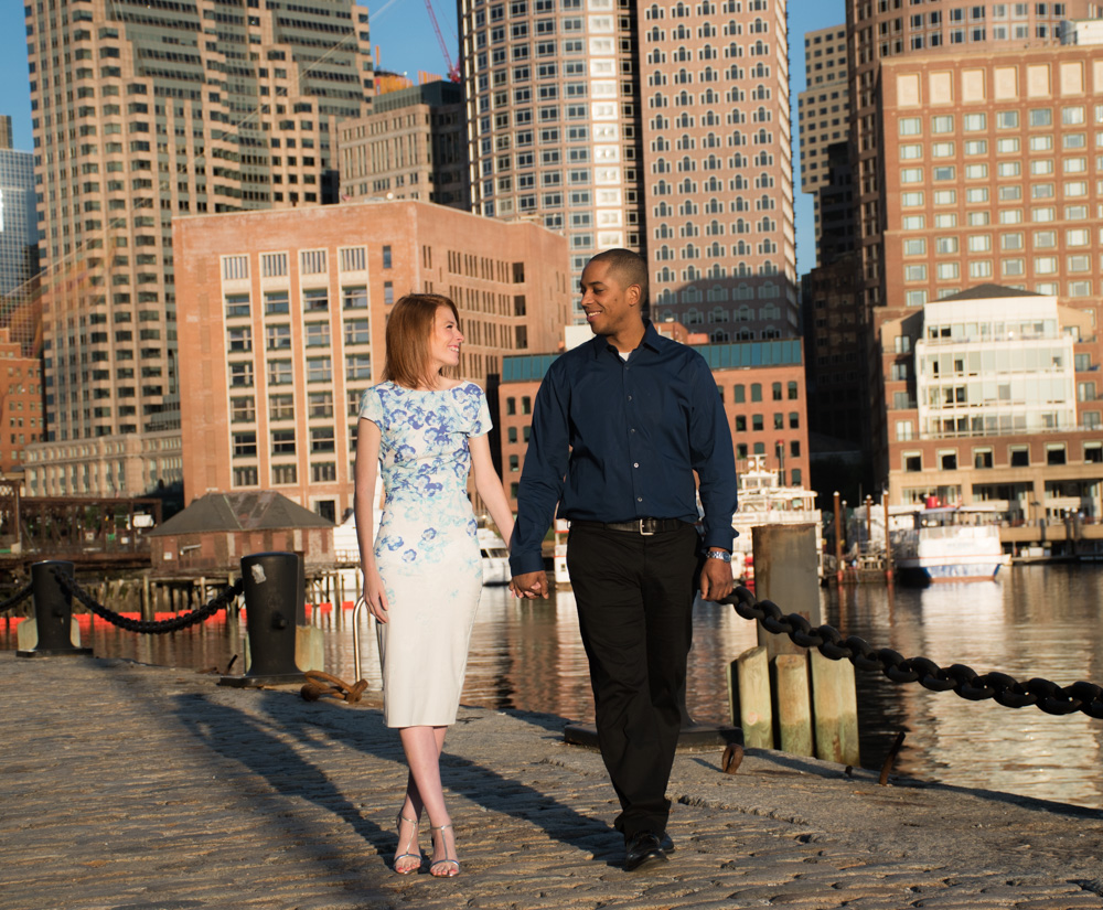 engagement photographs taken at the Boston seaport