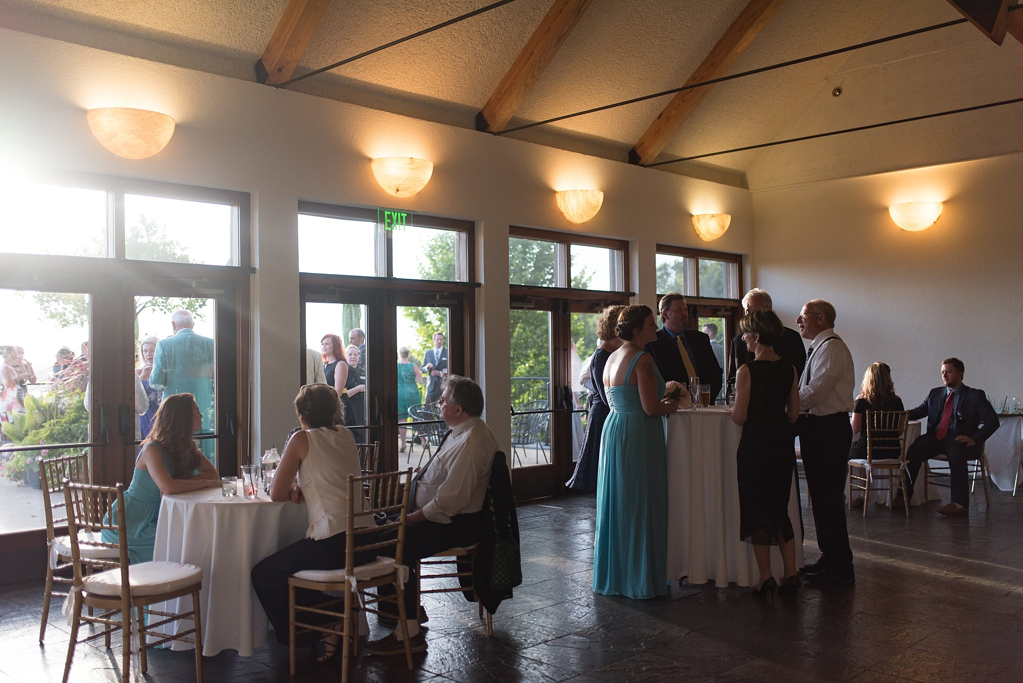 indoor or outdoor ceremony at tower hill botanic garden
