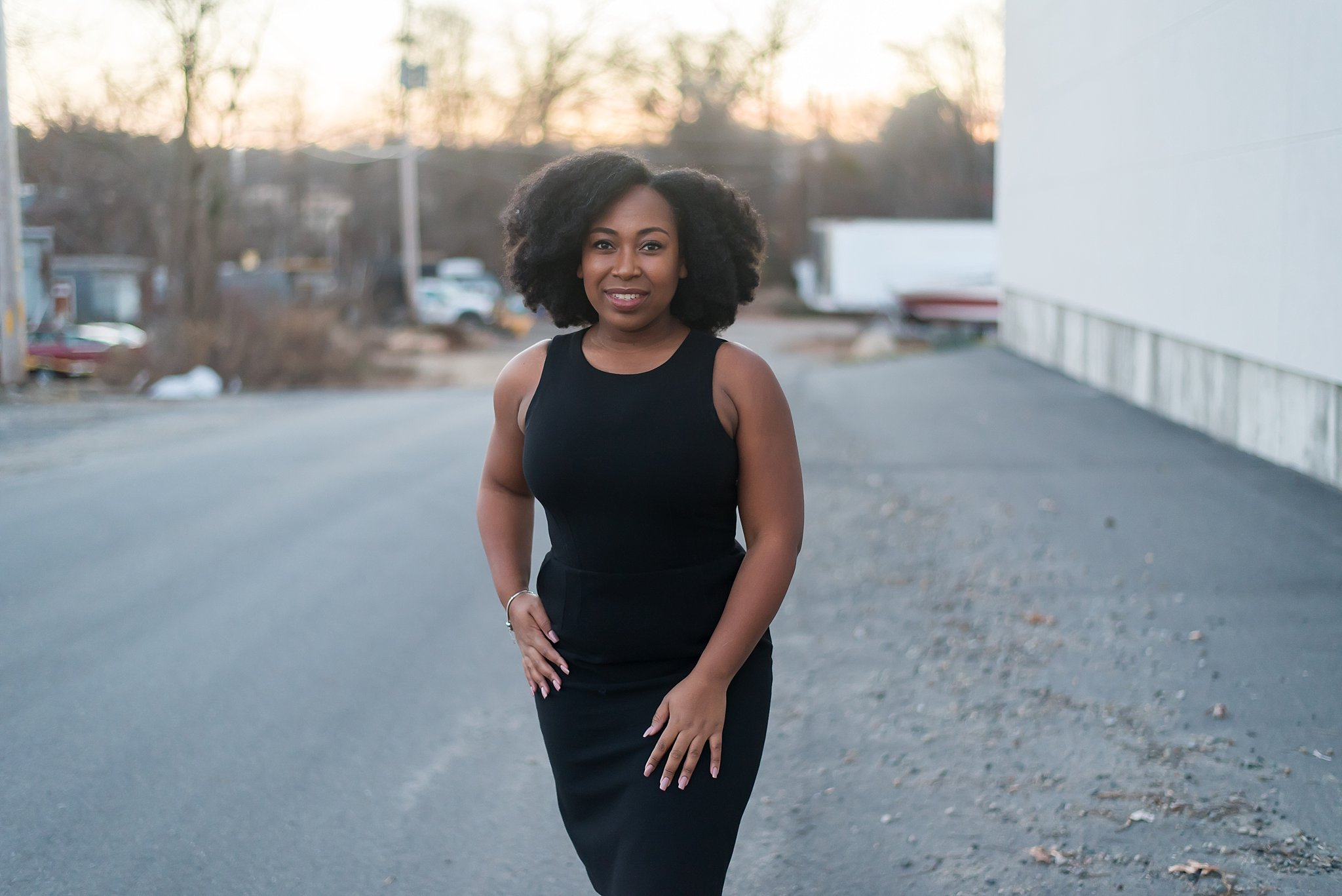 black dress with pockets for photographers