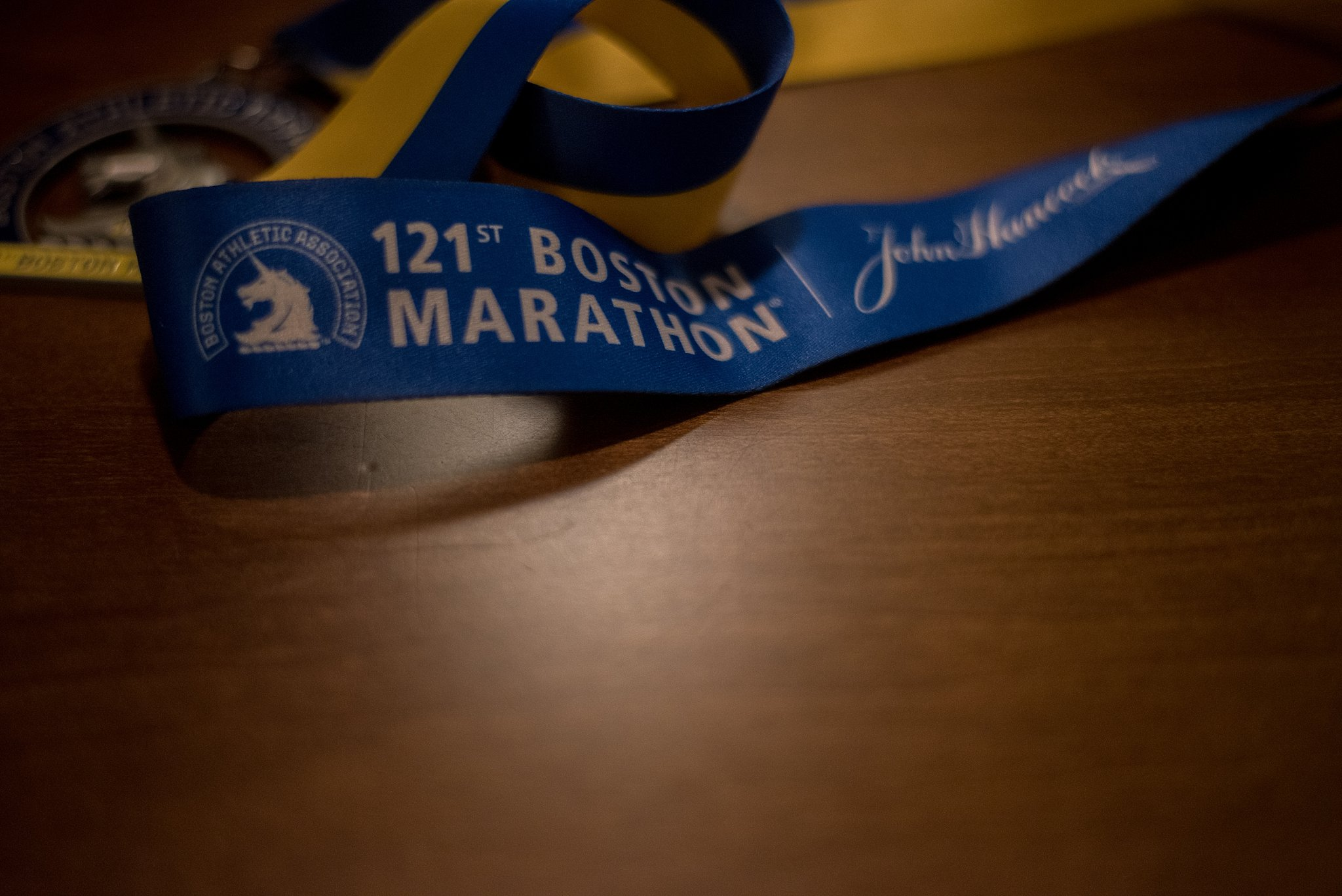 Medal for competing in Boston Marathon
