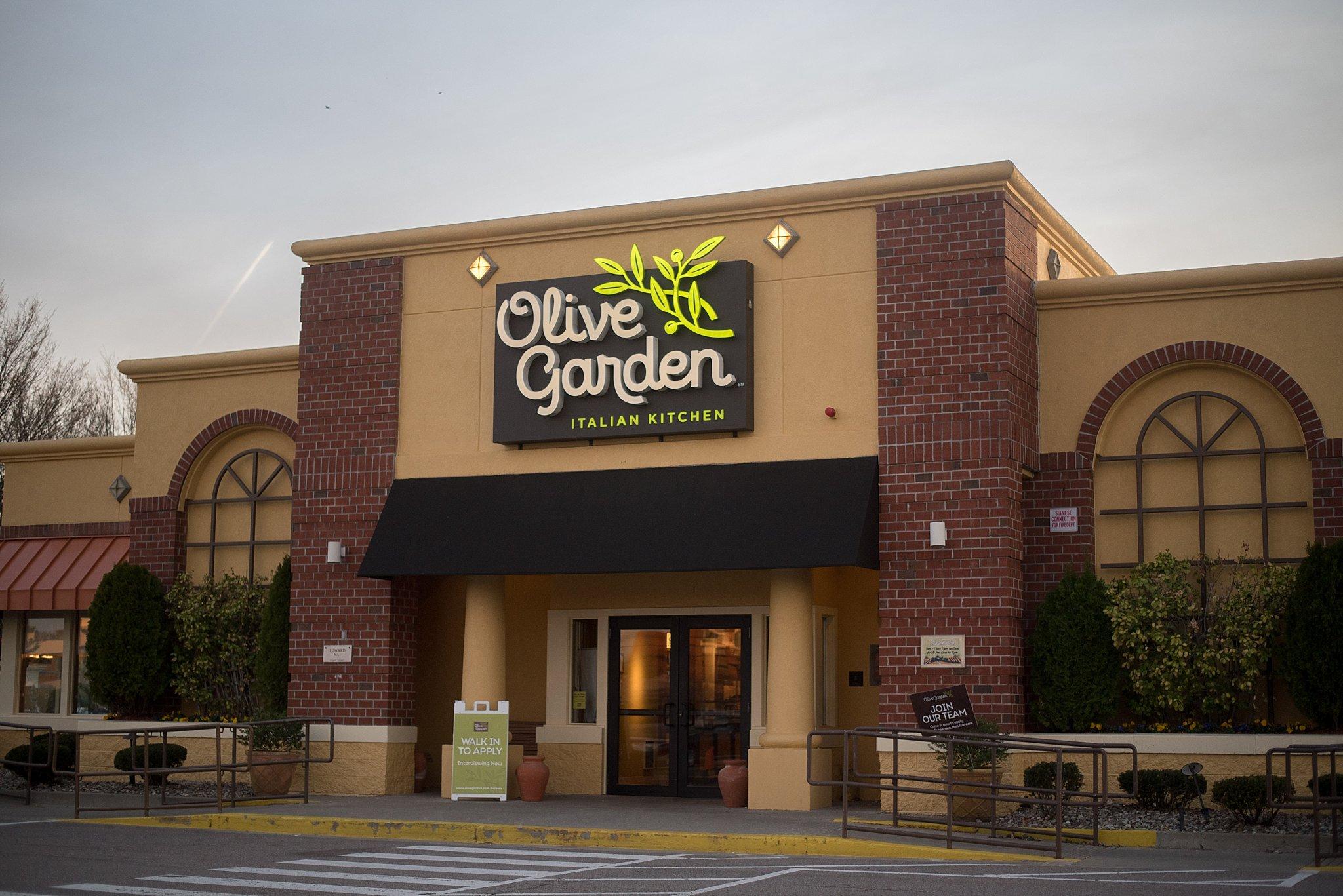 Olive Garden after running the Boston Marathon