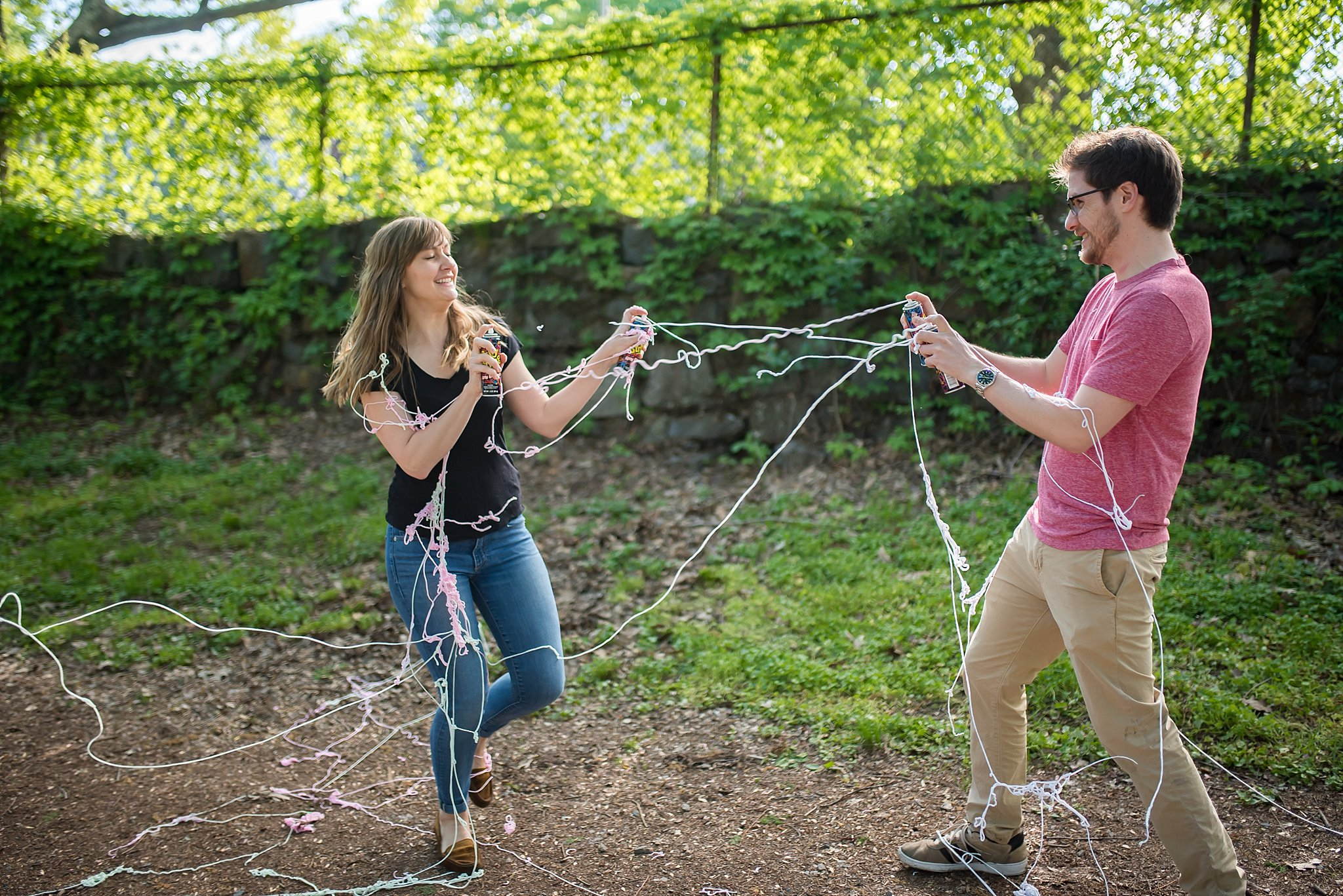 silly string at the arnold arboretum