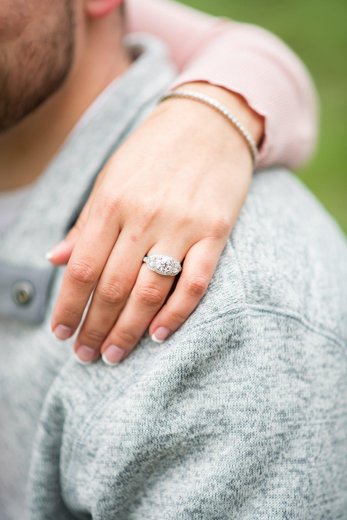 Engagement ring in Boston
