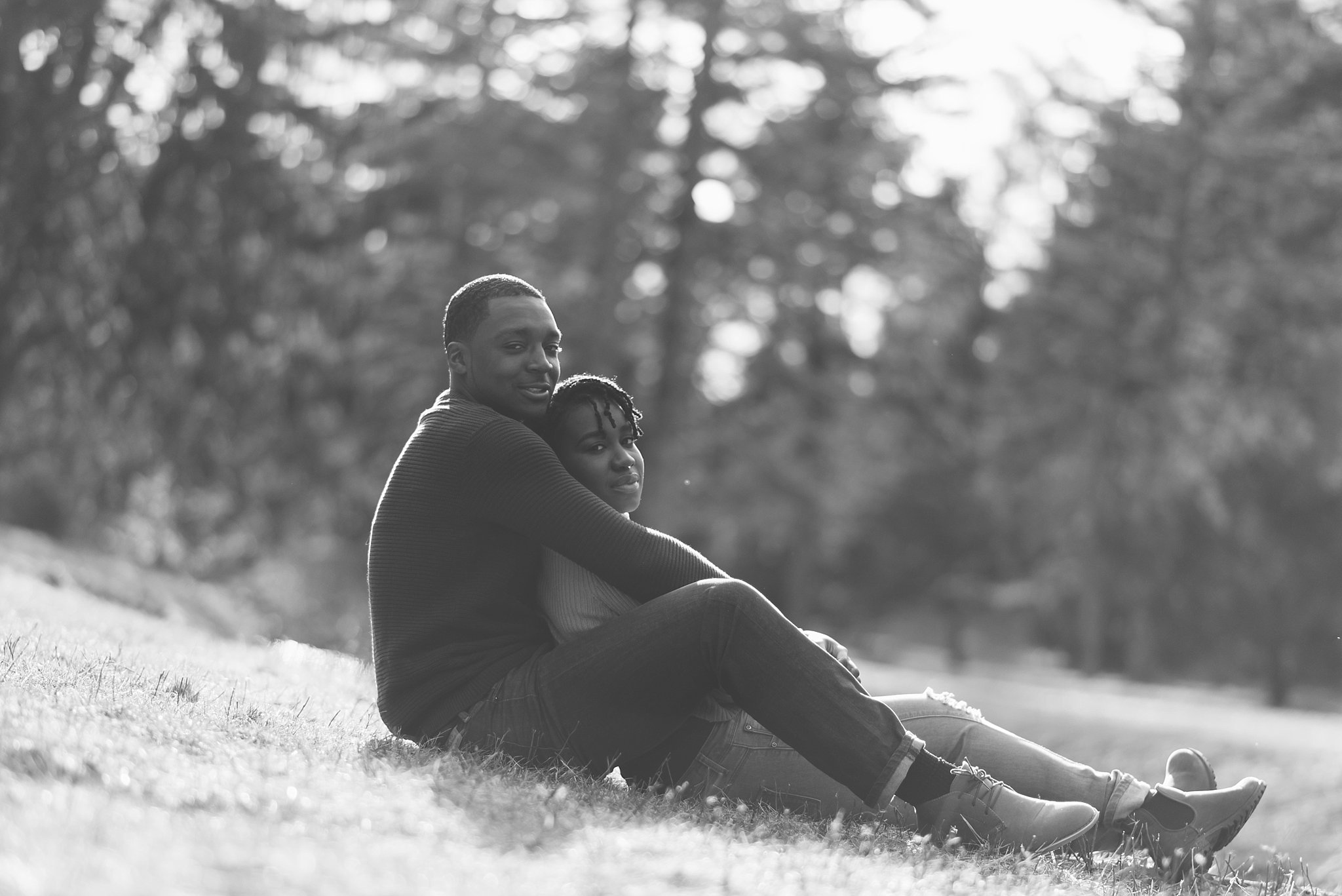 couple portrait at the Arnold Arboretum