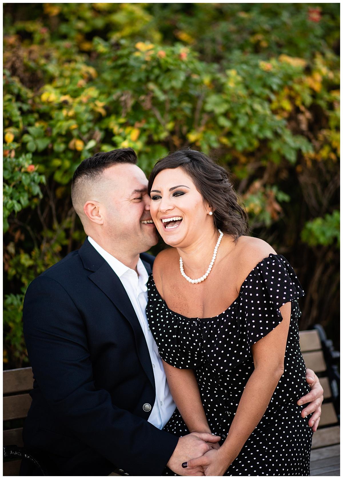 Happy couple boston seaport