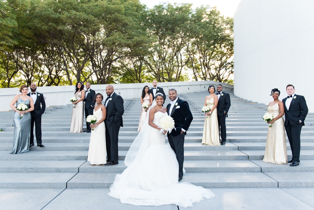 Bridal Party on Steps of John F Kennedy Presidential Library and Museum.jpg
