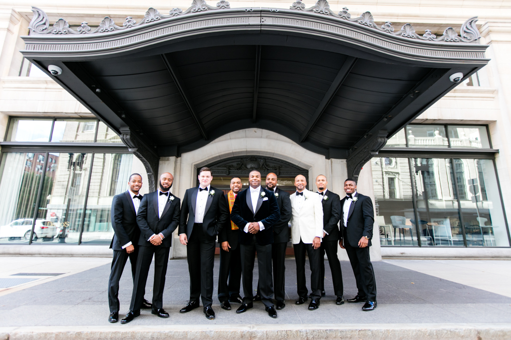 Groomsmen photos outside of Boston Park Plaza hotel.jpg