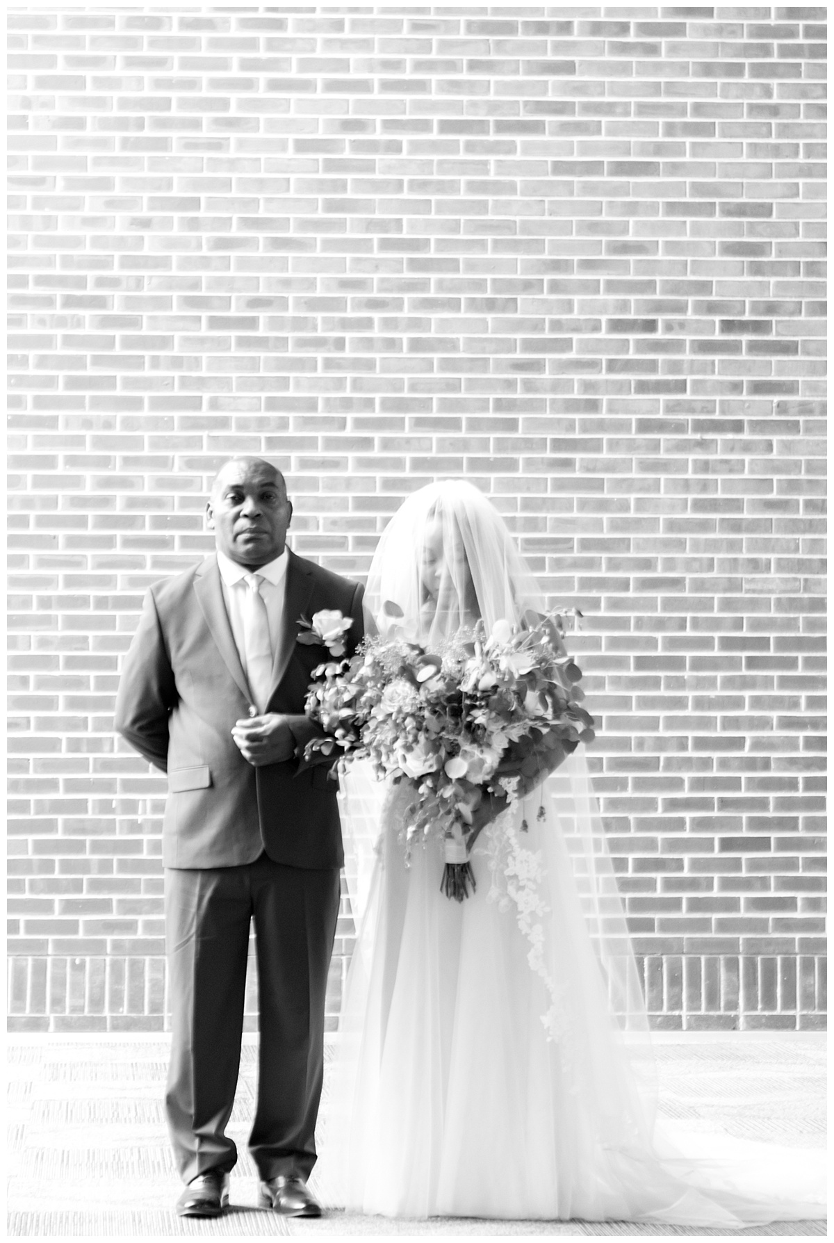 black and white photo of bride at gordon-conwell theological seminary.jpg