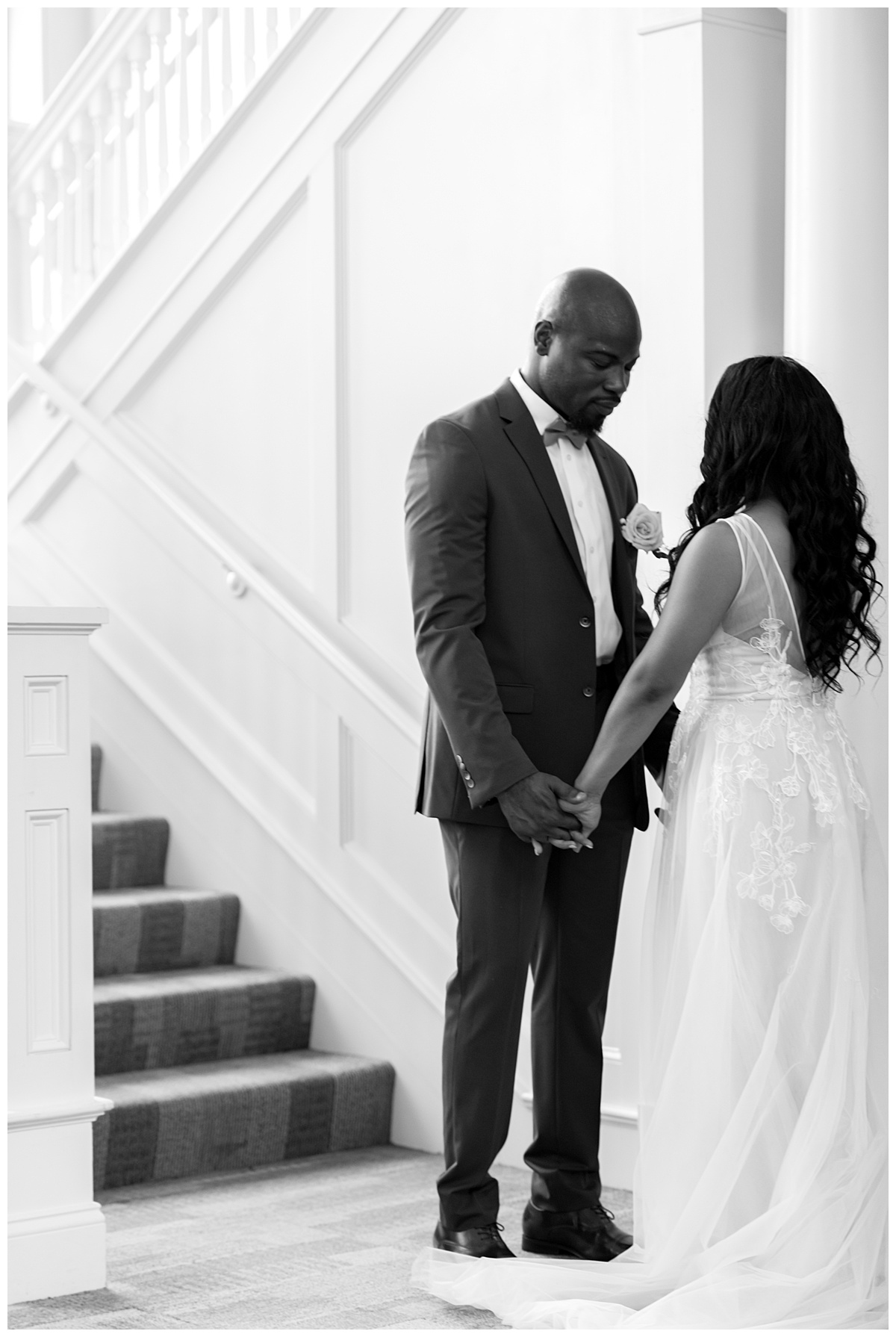 Bride and groom first look at gordon-conwell theological seminary.jpg