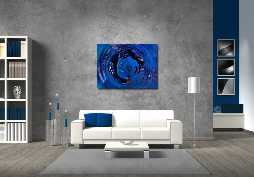 Through the Plughole abstract artwork available on acrylic glass and fine art prints