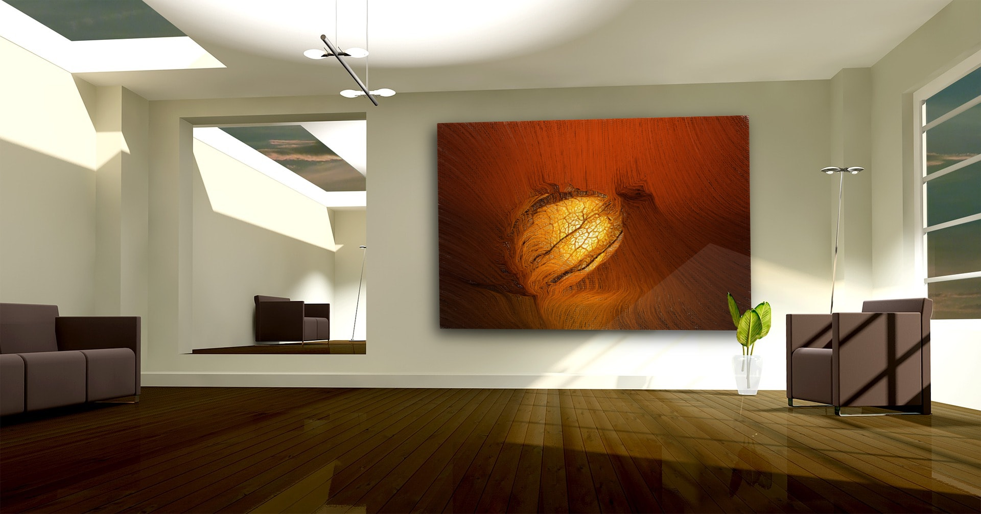 Embryo abstract artwork on canvas and fine art prints