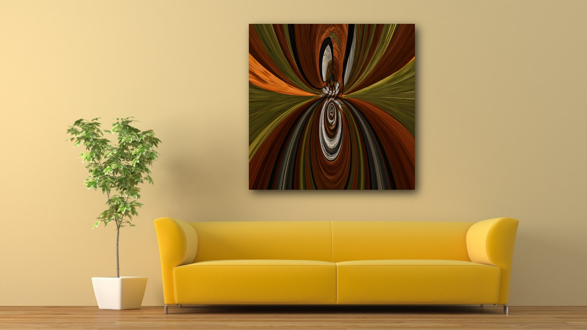 Empire Ribbons abstract artwork on canvas and fine art prints